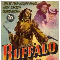 Cine: PROGRAMA CINE - AVENTURAS DE BUFFALO BILL - JOEL MC CREA - LINDA DARNELL - IMPERIAL CINEMA . Lote 120056120