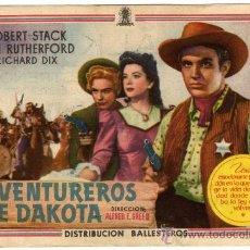 Cine: PROGRAMA CINE - AVENTUREROS DE DAKOTA - ROBERT STACK - ANN RUTHERFORD - CINE ALKAZAR (CORDOBA). Lote 29248955
