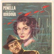 Flyers Publicitaires de films Anciens: LOS PECES ROJOS PROGRAMA SENCILLO SUEVIA CINE ESPAÑOL EMMA PENELLA NIEVES CONDE. Lote 194599278