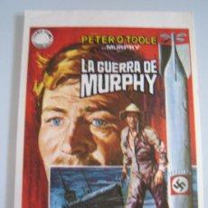 Cine: LA GUERRA DE MURPHY PETER O'TOOLE PHILIPPE NOIRET IZARO - FOLLETO DE MANO ORIGINAL DEL ESTRENO. Lote 29255915