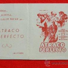 Cine: ATRACO PERFECTO, STERLING HAYDEN STANLEY KUBRICK, IMPECABLE DOBLE LOCAL, CON PUBLICIDA KURSAAL REUS. Lote 29279823