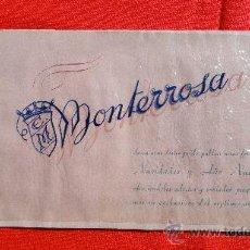 Cine: FELICITACION NAVIDADES PROGRAMACION 1953 CINE MONTERROSA REUS, LIBRITO DECORADO. Lote 29309203