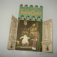 Cine: ANTIGUO PROGRAMA DE CINE DOBLE Y TROQUELADO ** INES DE CASTRO ** . AÑO 1940S.. Lote 29319439