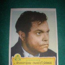 Cine: ¨FOLLETO DE MANO ``EL TERCER HOMBRE´´. ORSON WELLS.CINE CORDON BURGOS. 25- MAYO 1950.. Lote 29320710