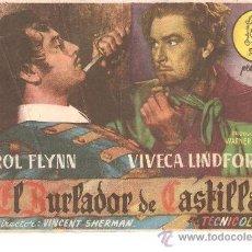 Cine: EL BURLADOR DE CASTILLA.PROGRAMA SENCILLO SIN PUBLI.. Lote 29324822