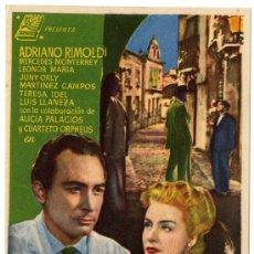 Cine: PROGRAMA CINE - BORRASCA DE CELOS - ADRIANO RIMOLDI - MERCEDES MONTERREY - GRAN TEATRO DE BURGOS. Lote 29365702