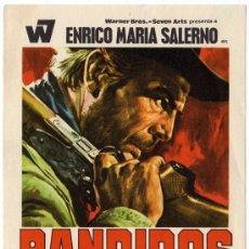 Cine: PROGRAMA CINE - BANDIDOS - ENRICO MARIA SALERNO - TERRY JENKINS - VENANTINO VENANTINI. Lote 29366088
