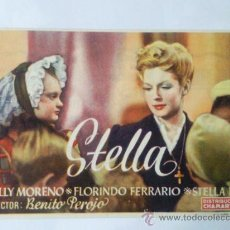 Cine: FOLLETO DE MANO ,- STELLA ,- DE BENITO PEROJO, CON ZULLY MORENO. Lote 29361763