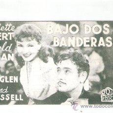 Cine: BAJO DOS BANDERAS CINE COLISEO OLYMPIA - (C-949). Lote 29393006