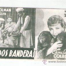 Cine: BAJO DOS BANDERAS CINE COLISEO OLYMPIA -VER REVERSO- (C-950). Lote 29393045
