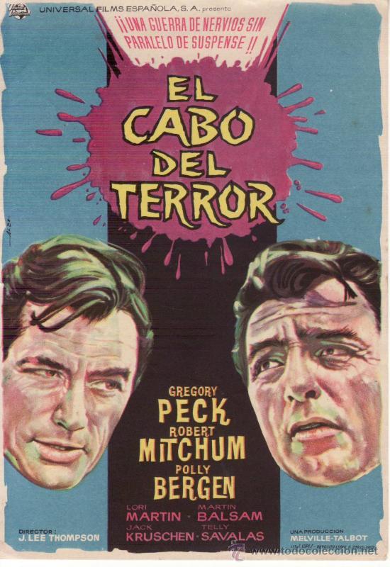 EL CABO DEL TERROR. GREGORY PECK ROBERT MITCHUM (Cine - Folletos de Mano - Suspense)