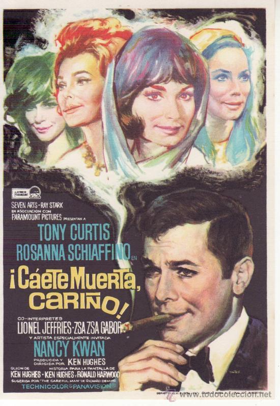 ¡CÁETE MUERTA CARIÑO! TONY CURTIS (Cine - Folletos de Mano - Suspense)