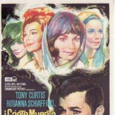 Cine: ¡CÁETE MUERTA CARIÑO! TONY CURTIS . Lote 29427752