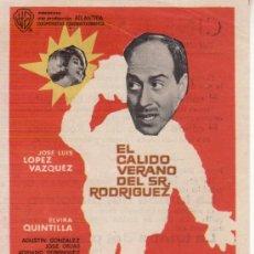 Cine: EL CALIDO VERANO DEL SR. RODRIGUEZ JOSE LUIS LOPEZ VAZQUEZ. Lote 50710949