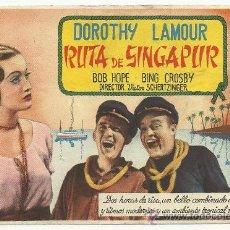Cine: RUTA DE SINGAPUR . Lote 29428594