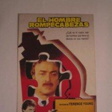 Cine: EL HOMBRE ROMPECABEZAS MICHAEL CAINE - FOLLETO DE MANO TARJETA ORIGINAL ESTRENO. Lote 29439347