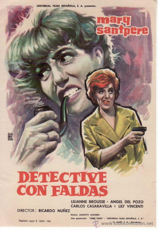 DETECTIVE CON FALDAS (Cine - Folletos de Mano - Suspense)
