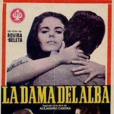 Cine: LA DAMA DEL ALBA / JULIETTE VILLARD-DANIEL MARTIN (ROVIRA BELETE 1966) PROGRAMA DE MANO. Lote 29502067