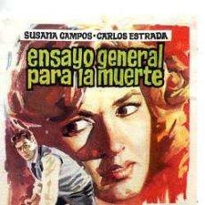 Cine: ENSAYO GENERAL PARA LA MUERTE / SUSAN CAMPOS - CARLOS ESTRADA (JULIO COLL 1962) PROGRAMA DE MANO. Lote 29513629