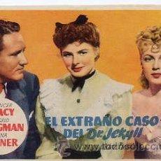 Cine: EL EXTRAÑO CASO DEL DR. JEKYLL / SPENCER TRACY-INGRID BERGMAN (VICTOR FLEMING) PROGRAMA DE MANO. Lote 29513807