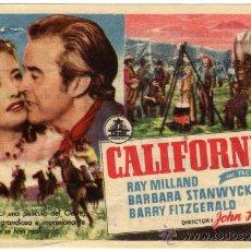 Cine: PROGRAMA CINE - CALIFORNIA - RAY MILLAND - BARBARA STANWYCK - IMPERIAL CERVANTES . Lote 29527607