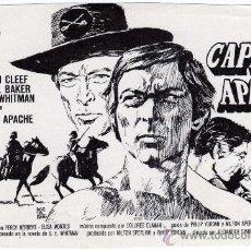 Cine: RARO PROGRAMA CINE - CAPITAN APACHE - LEE VAN CLEEF - CARROLL BAKER - ILUSTRADOR MONTALBAN. Lote 30236003