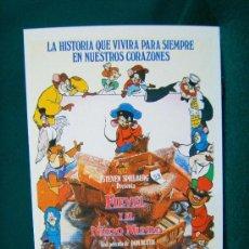 Cine: FIEVEL Y EL NUEVO MUNDO - STEVEN SPIELBERG - DIBUJOS ANIMADOS - 1995.. Lote 29530066