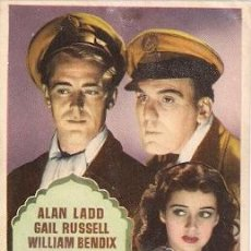Cine: CALCUTA.1947- ALAN LADD, GAIL RUSSELL, WILLIAM BENDIX, JUNE DUPREZ. Lote 29570231
