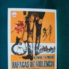 Cine: RAFAGAS DE VIOLENCIA - CLIVE DONNER - ILUSTRADO POR JANO - KENNETH MORE -TEATRO GALINDO.CIEZA - 1968. Lote 181406761