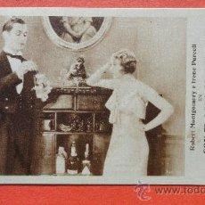 Cine: CON EL AGUA AL CUELLO, IMPECABLE TARJETA 1933, CON PUBLICIDAD A DOS TINTAS, ROBERT MONTGOMERY. Lote 29711264