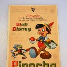 Cine: PINOCHO. WALT DISNEY. Lote 29760000