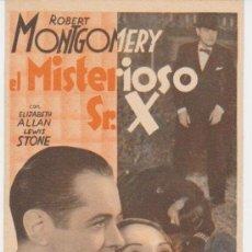 Cinema - El Misterioso Sr. X. Programa tarjeta de MGM. - 29848437