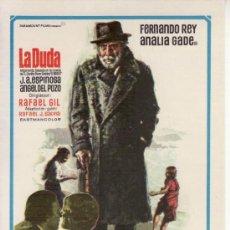 Cine: LA DUDA.PROGRAMAS DE CINE Y MAS COLECCIONISMO EN RASTRILLOPORTOBELLO. Lote 29850097