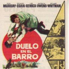 Cine: DUELO EN EL BARRO - MAS COLECCIONISMO EN RASTRILLOPORTOBELLO. Lote 29850354
