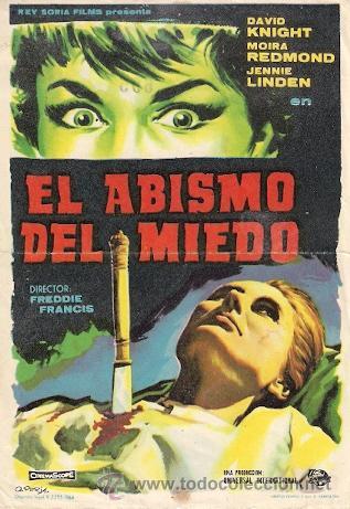 EL ABISMO DEL MIEDO (Cine - Folletos de Mano - Terror)