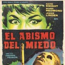 Cine: EL ABISMO DEL MIEDO. Lote 29873038