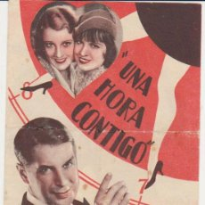Cine: UNA HORA CONTIGO. DOBLE DE PARAMOUNT. IDEAL CINEMA 1933.. Lote 29881668