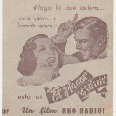 Cine: EL PLACER DE VIVIR. DOBLE DE RKO RADIO.. Lote 29882219