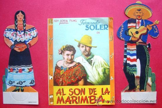 AL SON DE LA MARIMBA. CON PUBLICIDAD (Cine - Folletos de Mano - Musicales)