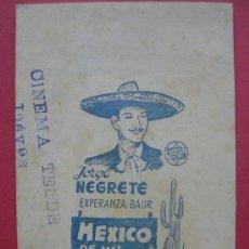 Cine: MEXICO DE MIS AMORES. JORGE NEGRETE. DOBLE. Lote 29891241