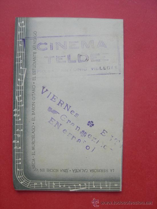 Cine: OPERETA - FORST - HOLST - KOMAR - HORBIGER - CEA - ORIGINAL - SELLO CINEMA TELDE - Foto 2 - 29891126
