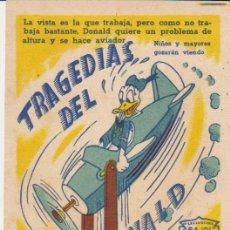 Cine: TRAGEDIAS DEL PATO DONALD. SENCILLO DE ARAJOL.. Lote 29890727