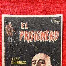 Cine: EL PRISIONERO, ALEC GUINNES JACK HAWKINS, SENCILLO ORIGINAL, EXCELENTE ESTADO SP. Lote 29891904