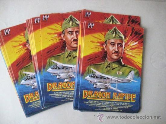 FOLLETOS DE MANO. DRAGON RAPIDE.1986 . ENVIO GRATIS¡¡¡ (Cine - Folletos de Mano - Clásico Español)