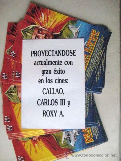 Cine: FOLLETOS DE MANO. DRAGON RAPIDE.1986 . ENVIO GRATIS¡¡¡ - Foto 2 - 29895123