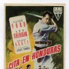 Cine: CITA EN HONDURAS, CON GLENN FORD.. Lote 32207830