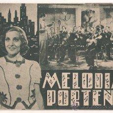 Cine: MELODIAS PORTEÑAS PROGRAMA DOBLE CIFESA VERDE ROSITA CONTRERAS E. SANTOS DISCEPOLO AMANDA LEDESMA. Lote 29914433
