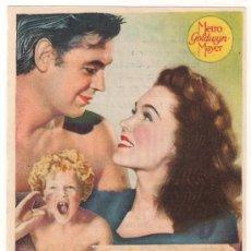 Cine: EL TESORO DE TARZAN PROGRAMA SENCILLO MGM JOHNNY WEISSMULLER MAUREEN O'SULLIVAN. Lote 29923657