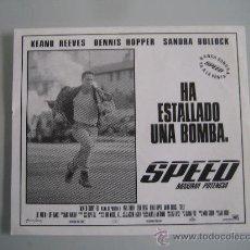 Cine: SPEED KEANU REEVES SANDRA BULLOCK - FOLLETO DE MANO CLICHE ORIGINAL ESTRENO. Lote 29923813