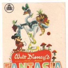 Cine: FANTASIA PROGRAMA SENCILLO CIFESA WALT DISNEY STOKOWSKI. Lote 29927385